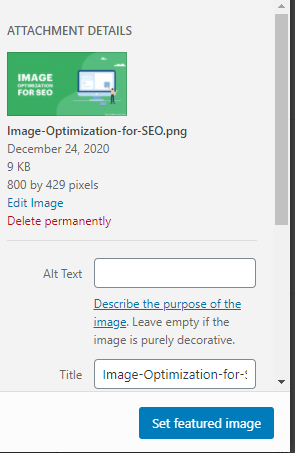 Image optimization Example