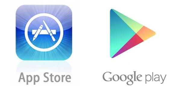 Google Play Store and App store image