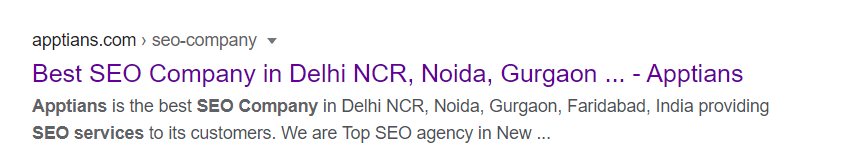 Displaying the meta title in google